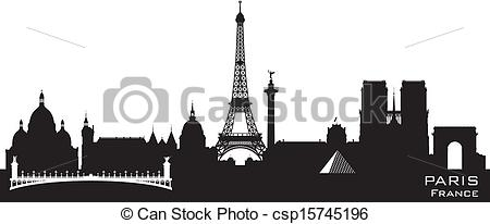 Panorama clipart paris city Silhouette City Art Color France