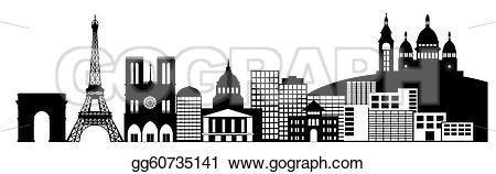 Panorama clipart paris city Clip city Stock clip France