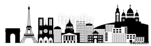 Panorama clipart valley Skyline Stock Skyline Paris photo