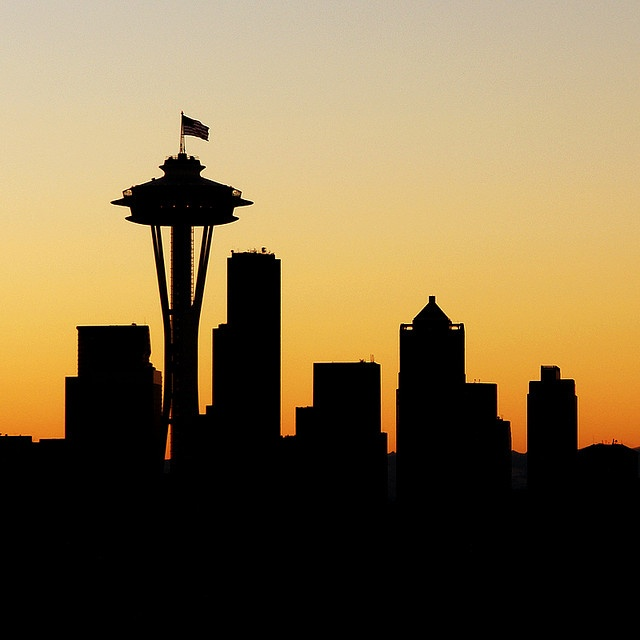 Panorama clipart seattle skyline Skyline images silhouette Google seattle