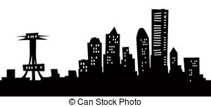 Panorama clipart seattle skyline Stock art Art and Seattle