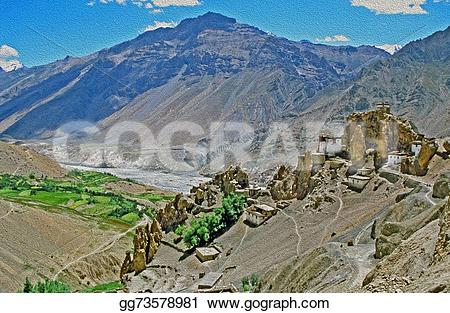 Panorama clipart valley Paint himachal himalays in of