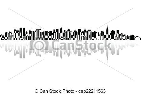 Panorama clipart vector Of  City Vector panorama