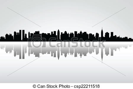 Panorama clipart vector Of  City Art panorama