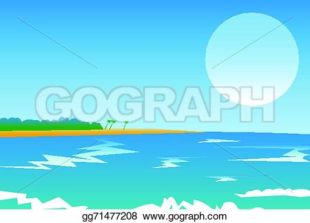 Panorama clipart vector Trees gg71477208 moon GoGraph trees