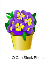 Pansy clipart Illustrations Pansies Pansy Pansies pot