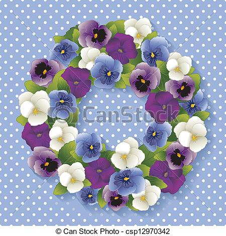 Pansy clipart blue #7