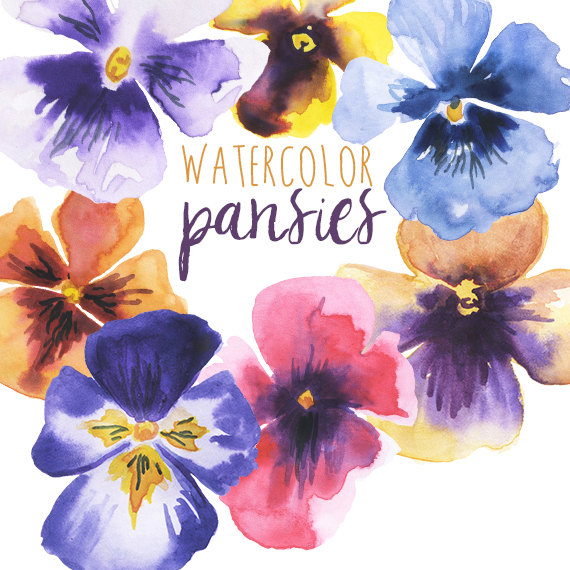 Pansy clipart border Art Floral Pansies Pansy Clipart