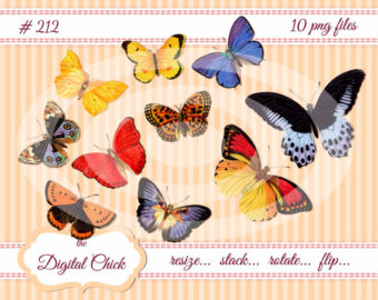 Pansy clipart butterfly vintage Instant Clipart download Vintage instant