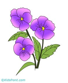 Pansy clipart flower garland #3