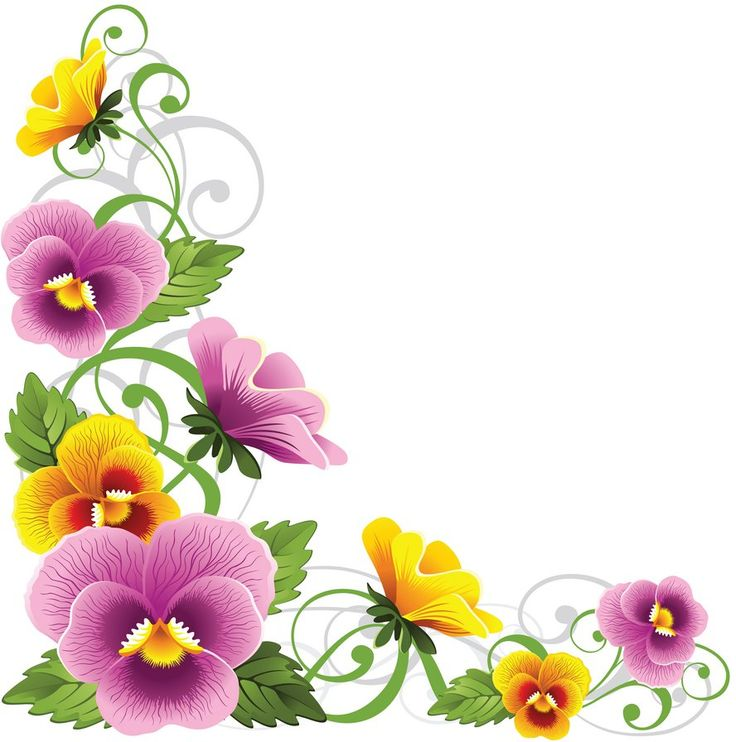 Pansy clipart flower garland #7