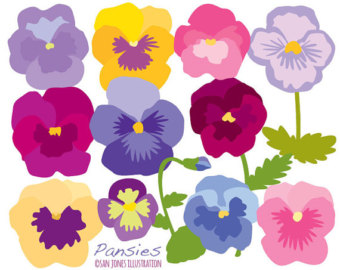 Pansy clipart flower garland #6