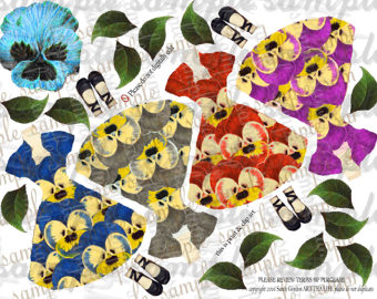 Pansy clipart flower garland #9