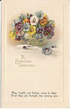 Pansy clipart happy birthday #2