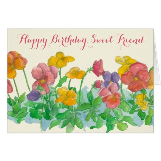 Pansy clipart happy birthday #6