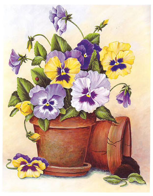 Pansy clipart potted flower #8