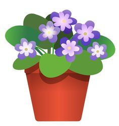 Pansy clipart potted flower #7