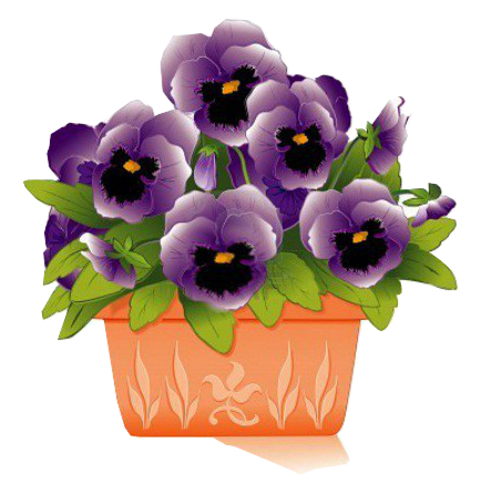 Pansy clipart potted flower #6