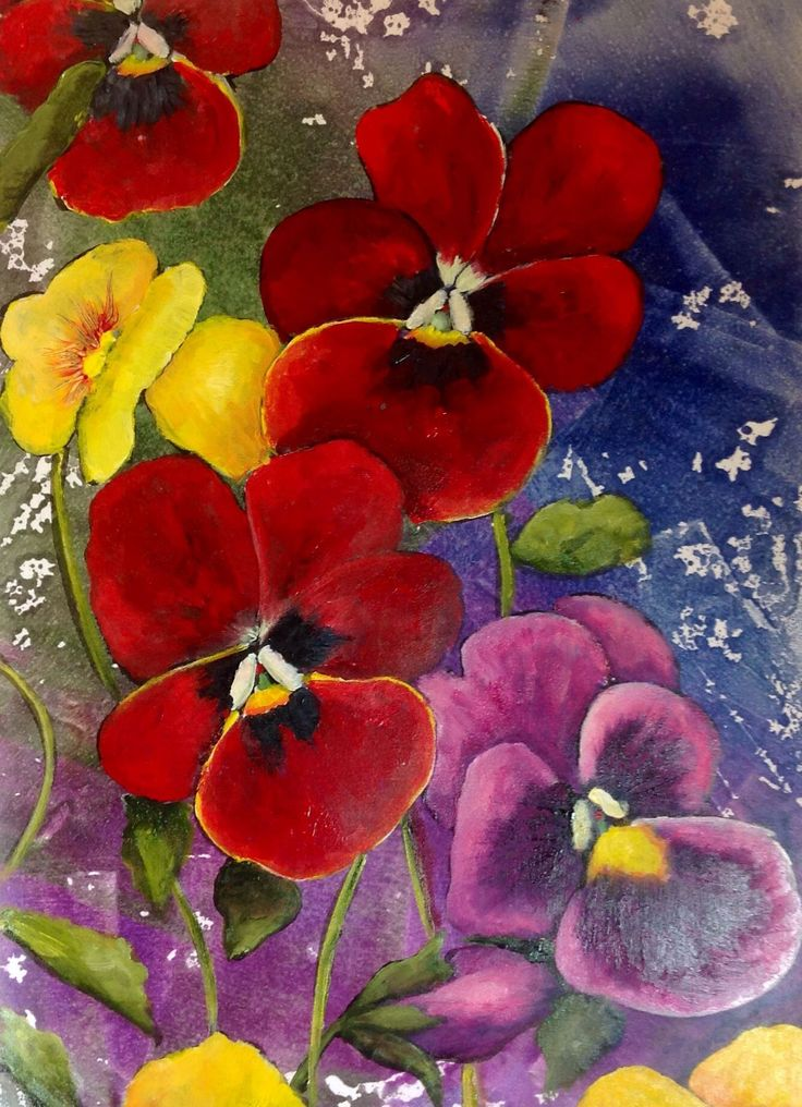 Pansy clipart red No an it's these