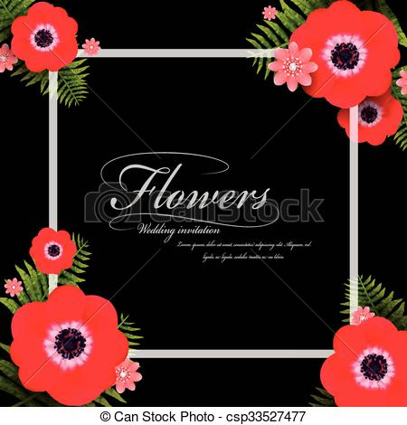 Pansy clipart red Red red attractive frame Illustration