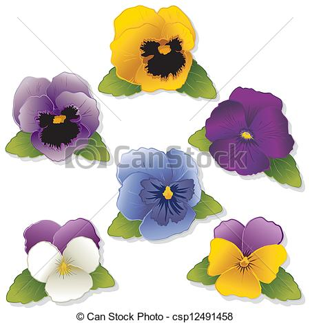 Pansy clipart single #5