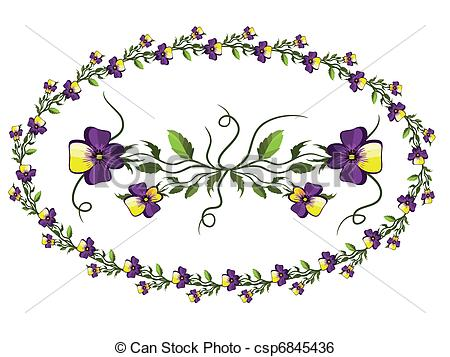 Pansy clipart single Single Clip For Vintage >