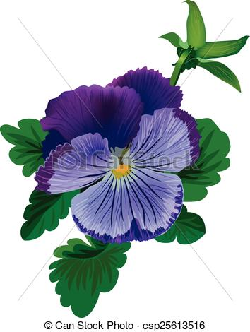 Pansy clipart single #2