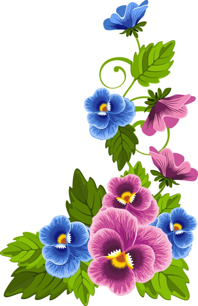 Pansy clipart spring flower #7