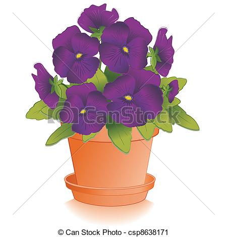 Pansy clipart spring flower #12