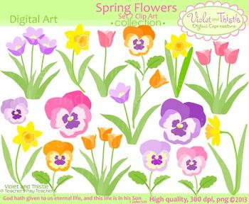 Pansy clipart spring flower #2
