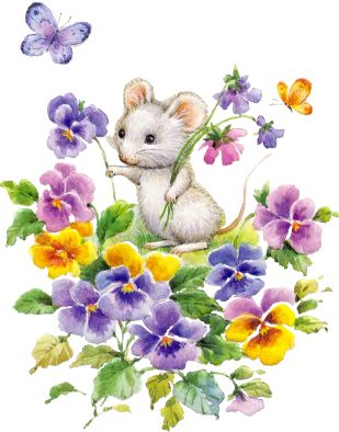 Pansy clipart spring flower #5
