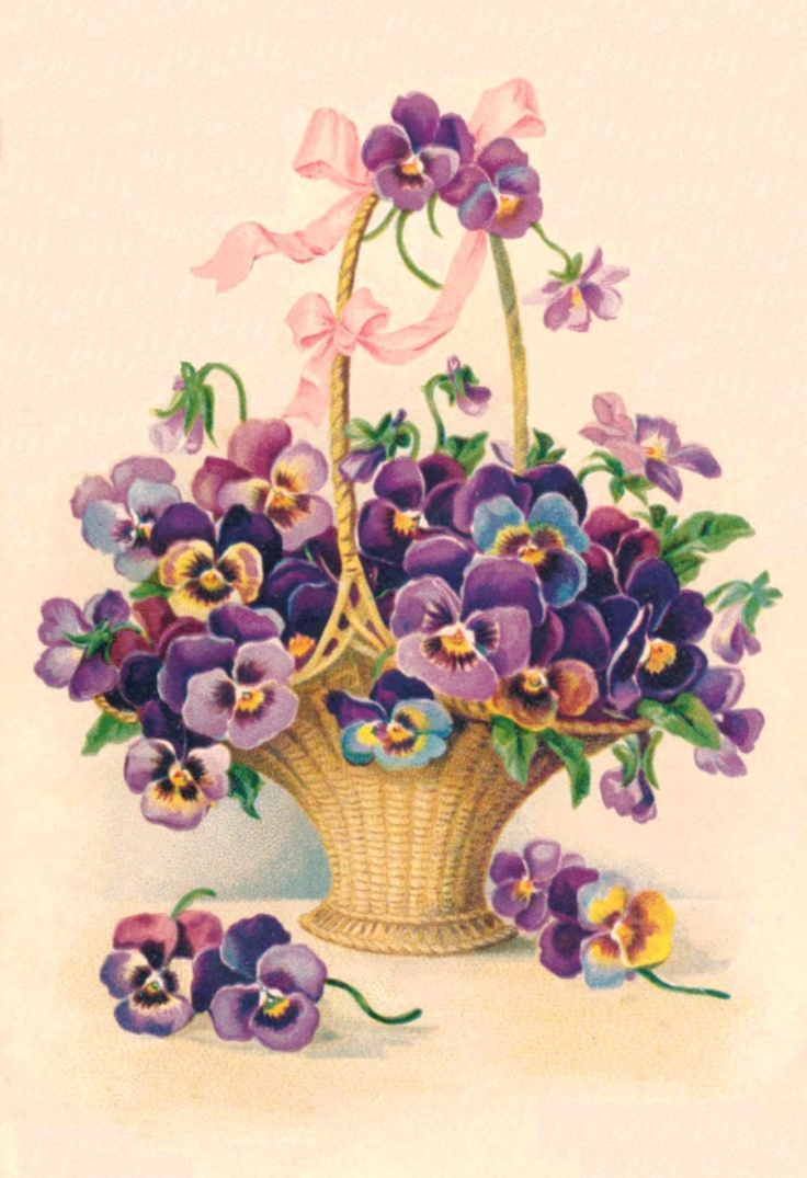 Pansy clipart victorian Pansies images  Vintage about
