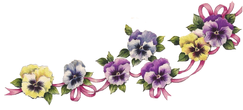 Pansy clipart vintage #11