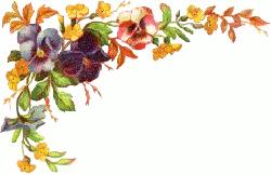 Pansy clipart vintage flower border Clip Download Border Border Flower