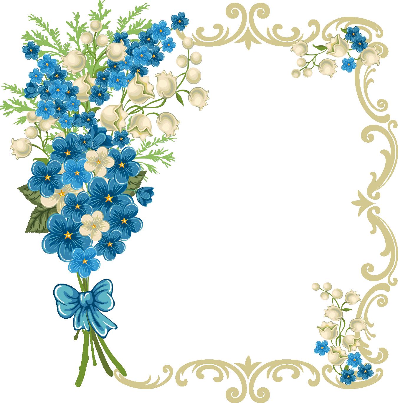 Vintage Flower clipart border line #11