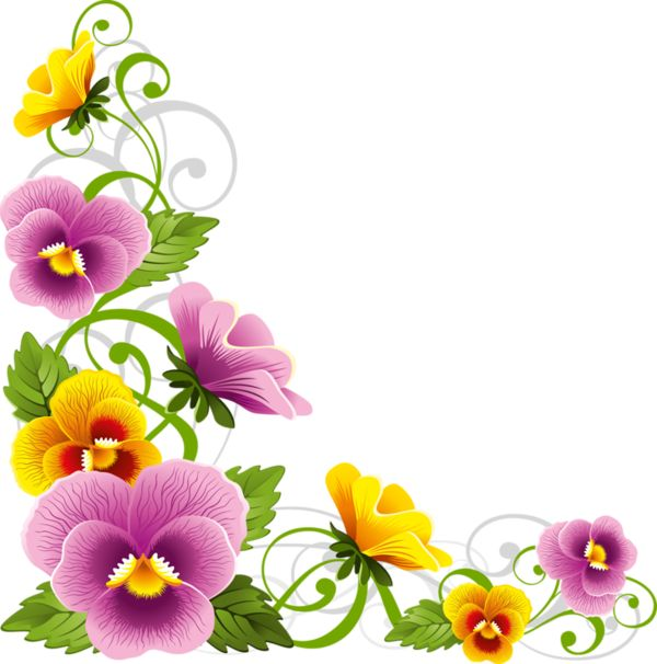 Pansy clipart vintage flower border Best pretty on on Pansy
