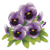 Pansy clipart violet flower Purple Royalty Pansy Clip Art
