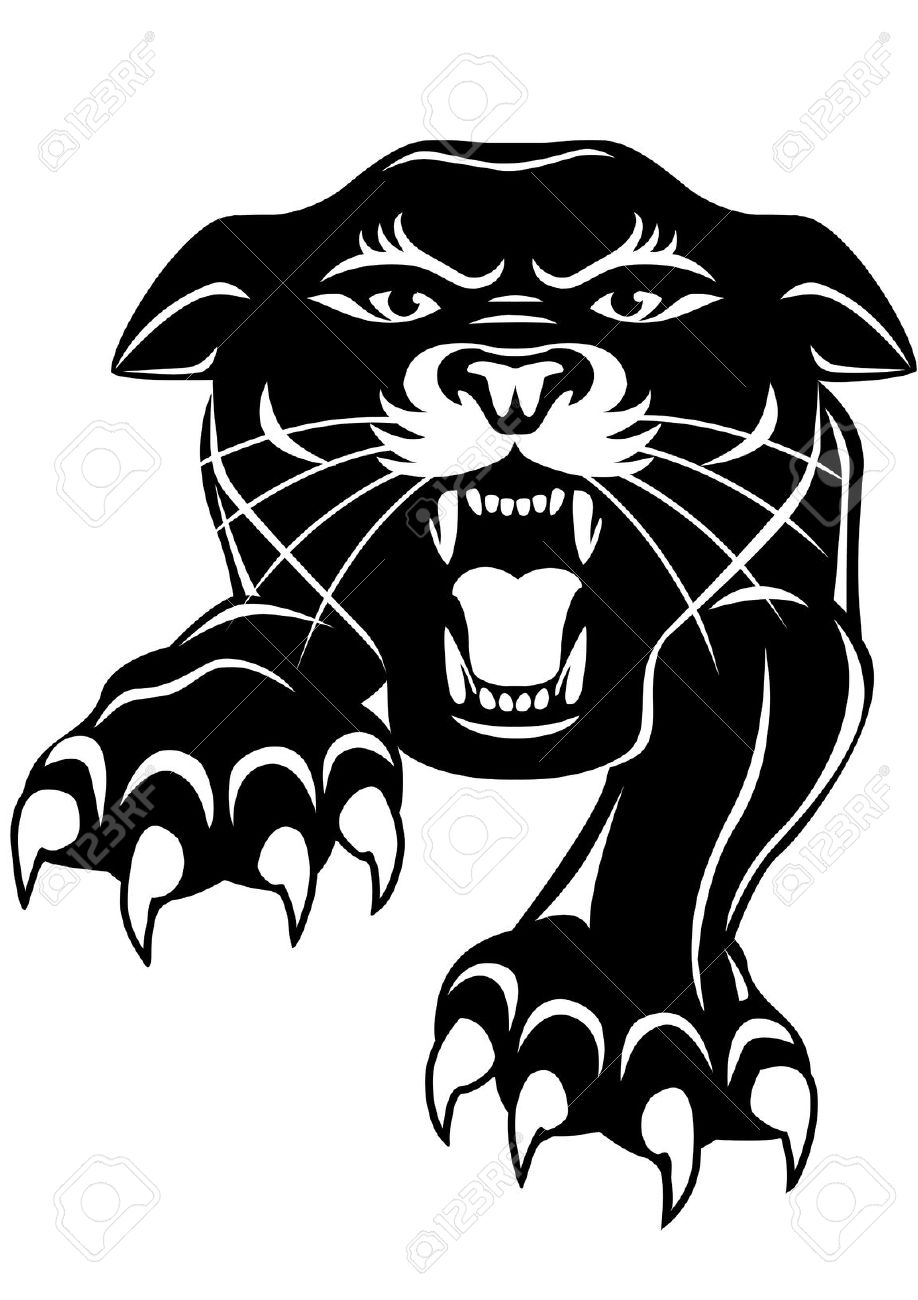 Panther clipart angry Tribal panther  tribal tribal