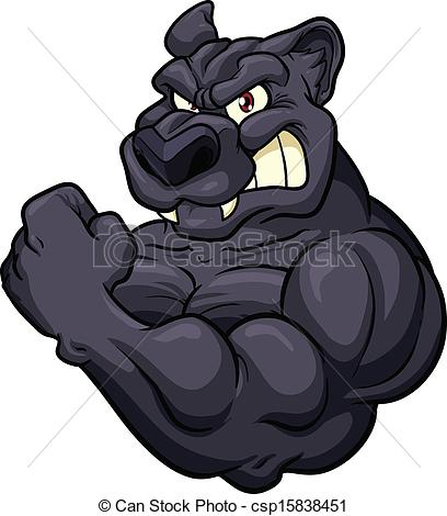 Panther clipart angry Strong mascot  Panther Vector