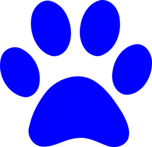 Paw clipart panthers Panther Foot ClipartMe Clipart Blue