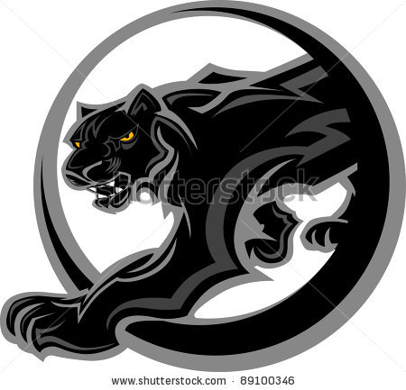 Black Panther clipart panther basketball Vector  vector Vector Black
