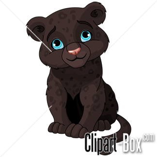 Black Panther clipart cute Panther clipart Cute Panther photo#4