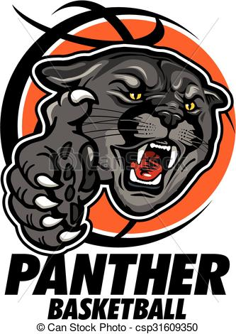 Black Panther clipart panther basketball Panther football Illustration football earl
