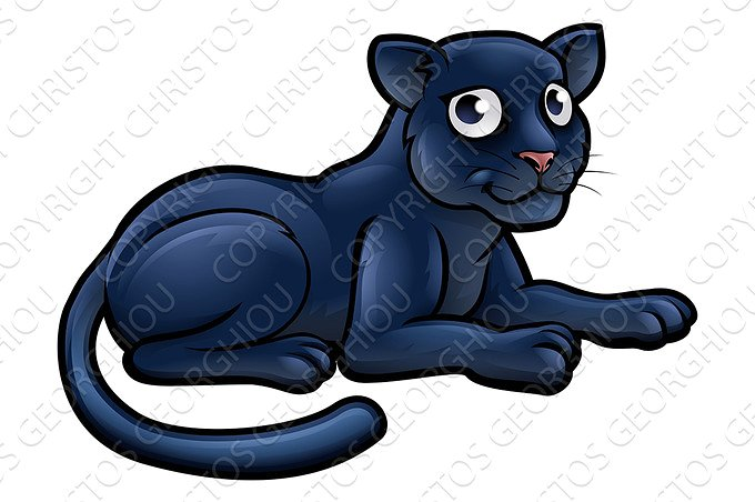 Black Panther clipart polynesian Cartoon on Character ~ Market