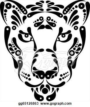Panther clipart jaguar head Gg65126863 Illustrations Pinterest Search