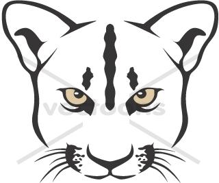 Panther clipart jaguar head Art clip Cougar Clip Cougar