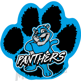 Wildcat clipart panther paw Custom collection Mascot Car clipart