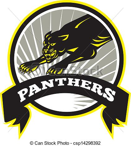 Panther clipart logo #8