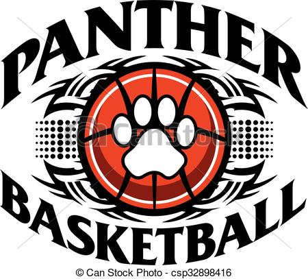 Black Panther clipart panther basketball Panther of panther Vector Clip