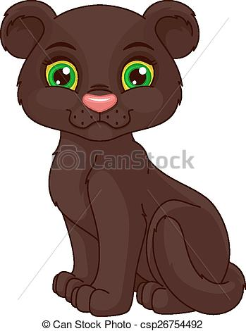 Black Panther clipart cute Cub  Cute panther on